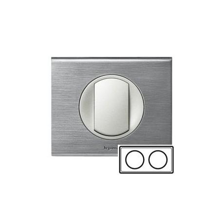 Рамка 2-ная, цвет фактурная сталь, Celiane 69102
