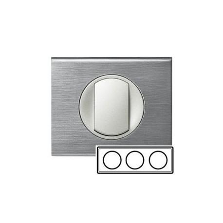 Рамка 3-ная, цвет фактурная сталь, Celiane 69103