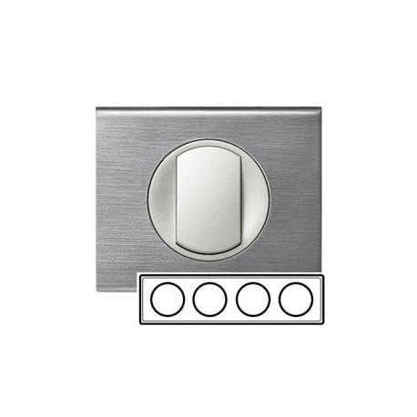 Рамка 4-а, колір фактурна сталь, Celiane, Legrand