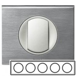 Рамка 5-ная, цвет фактурная сталь Celiane 69110
