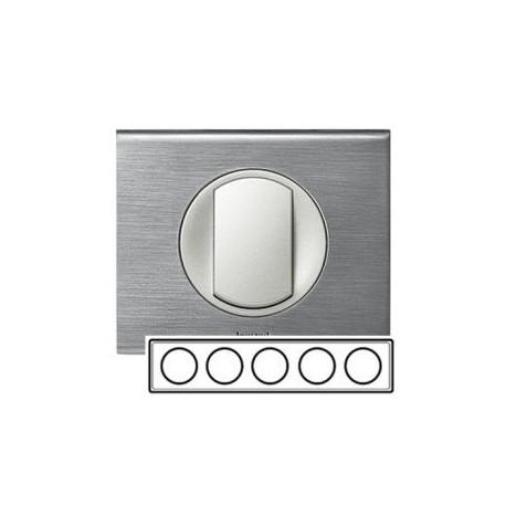 Рамка 5-а, колір фактурна сталь Celiane, Legrand