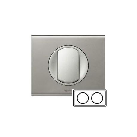 Рамка 2-ная, цвет никель-велюр, Celiane 69112