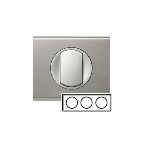 Рамка 3-ная, колір нікель-велюр, Celiane, Legrand