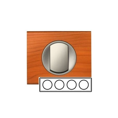 Рамка 4-ная, цвет кедр, Celiane 69174