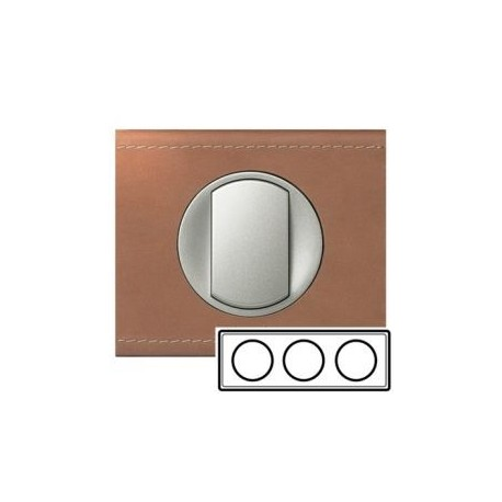 Рамка 3-ная, цвет кожа крем-карамель, Celiane 69283