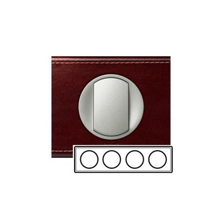 Рамка 4-ная, цвет кожа классик, Celiane 69294