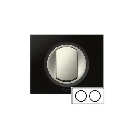 Рамка 2-ная, цвет смальта графит, Celiane 69302