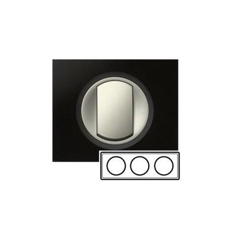Рамка 3-ная, колір смальта графіт, Celiane, Legrand