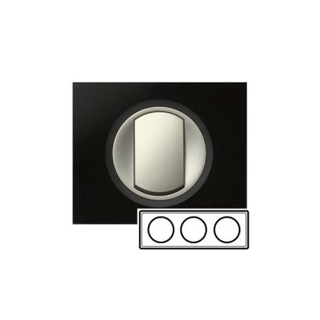Рамка 3-ная, цвет смальта графит, Celiane 69303