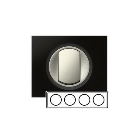 Рамка 4-ная, цвет смальта графит, Celiane 69304