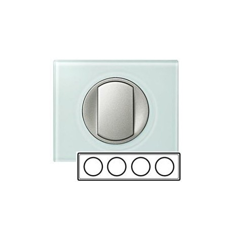 Рамка 4-ная, цвет смальта-белая глина, Celiane 69314