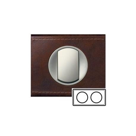 Рамка 2-ная, цвет кожа коричневая, текстурная, Celiane 69402