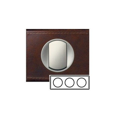 Рамка 3-ная, цвет кожа коричневая, текстурная, Celiane 69403