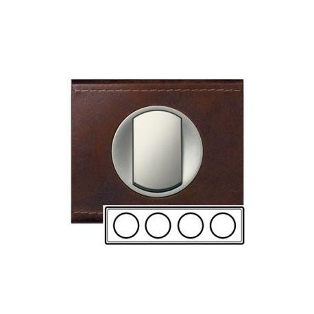 Рамка 4-ная, цвет кожа коричневая, текстурная, Celiane 69404
