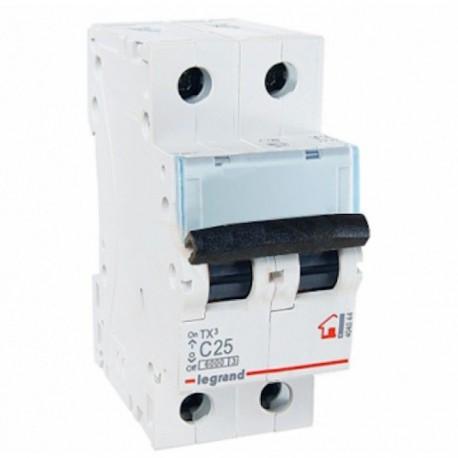 Автоматичний вимикач Legrand TX3 25A 2 полюса 6кА