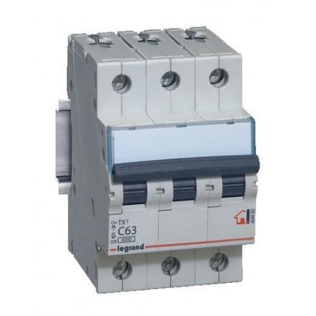 Автоматичний вимикач Legrand TX3 63A 3 полюса 6кА