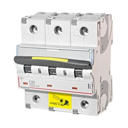 Автоматический выключатель DX3, 3 полюса, тип C, 80А, 16кА
