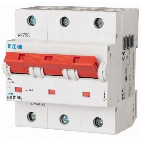 Автоматический выключатель Eaton-Moeller, PLHT-С100/3, 3 полюса, тип C, 100А, 16кА.