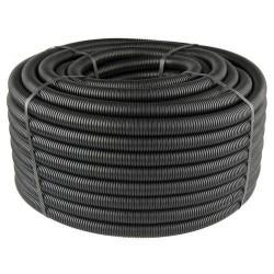 Металлорукав изолированный черный с протяжкой d14 (25м.)