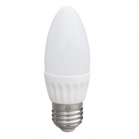 Светодиодная LED лампа свеча 6W 220В E27 4100К
