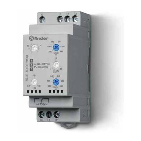 Реле контролю мережі 6A, 380-415В AC, 704184002030 Finder