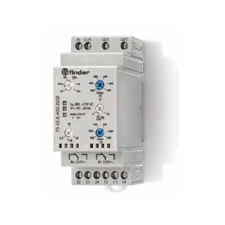 Реле контроля сети 8A, 380-415В AC, 704284002032 Finder