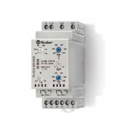 Реле контролю мережі 8A, 380-415В AC, 704284002032 Finder