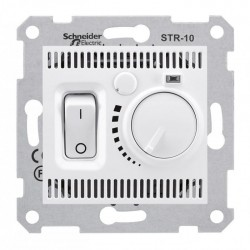 Термостат для тёплых полов, цвет белый, Sedna