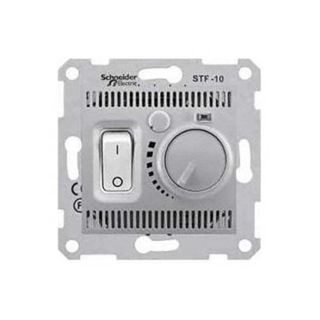 Термостат для тёплых полов, цвет алюминий, Sedna SDN6000360