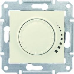 Светорегулятор, 40-600Вт универсальный, цвет слоновая кость, Sedna