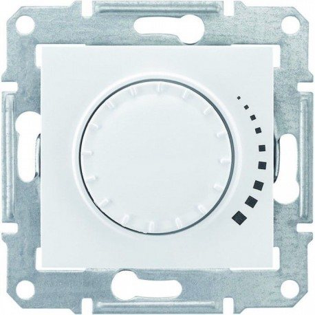 Світлорегулятор, 40-600Вт універсальний, колір білий, Sedna