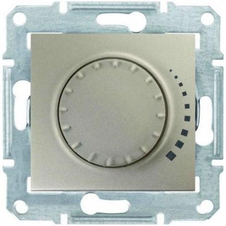 Світлорегулятор, 25-325Вт, колір титан, Sedna