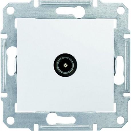 Розетка TV конечная, цвет белый, Sedna SDN3201621