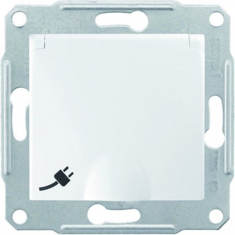 Розетка 2К+З, 16А, с крышкой, цвет белый, Sedna SDN3100121