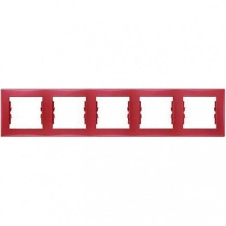 Рамка 5-я, цвет красный, Sedna SDN5800941