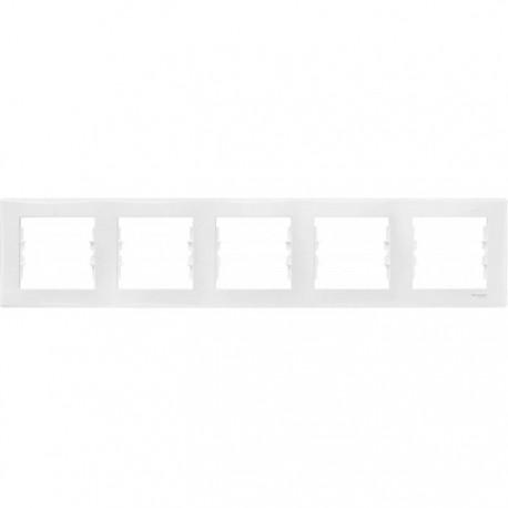 Рамка 5-на, колір білий, Sedna