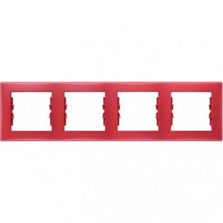Рамка 4-я, цвет красный, Sedna SDN5800741