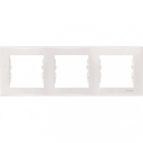 Рамка 3-на, колір білий, Sedna