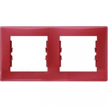 Рамка 2-на, колір червоний, Sedna
