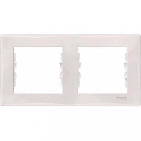 Рамка 2-на, колір білий, Sedna