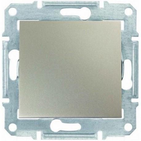 Переключатель промежуточный (крест) 1-кл., цвет титан, Sedna SDN0500168