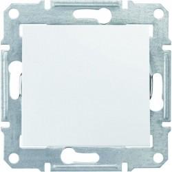 Переключатель промежуточный (крест) 1-кл., цвет белый, Sedna