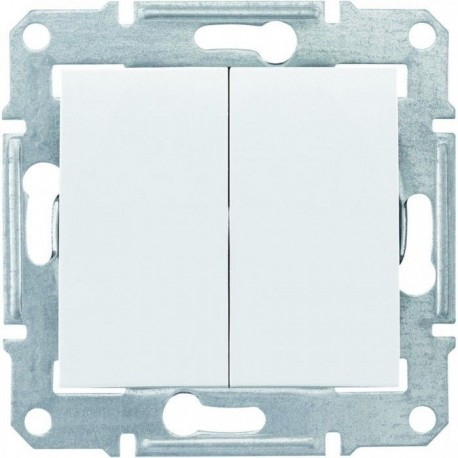 Перемикач 2-кл., колір білий, Sedna
