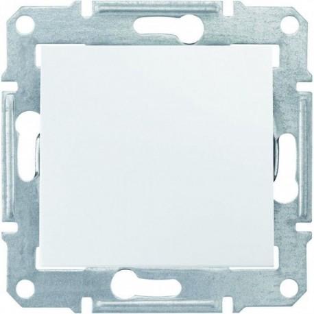 Перемикач 1-кл., колір білий, Sedna