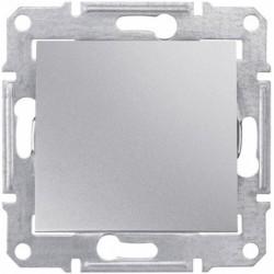 Переключатель 1-кл., цвет алюминий, Sedna SDN0400160