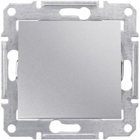 Перемикач 1-кл., колір алюміній, Sedna
