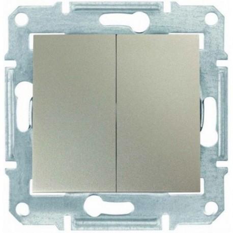 Выключатель 2-кл., цвет титан, Sedna SDN0300168