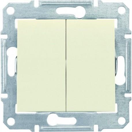 Выключатель 2-кл., цвет слоновая кость, Sedna SDN0300123