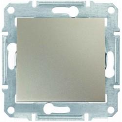 Выключатель 1-кл., цвет титан, Sedna SDN0100168