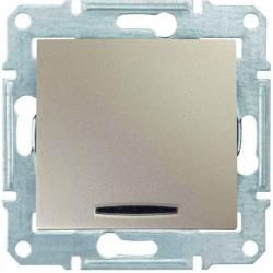 Выключатель 1-кл. с подсветкой, цвет титан, Sedna SDN0400368
